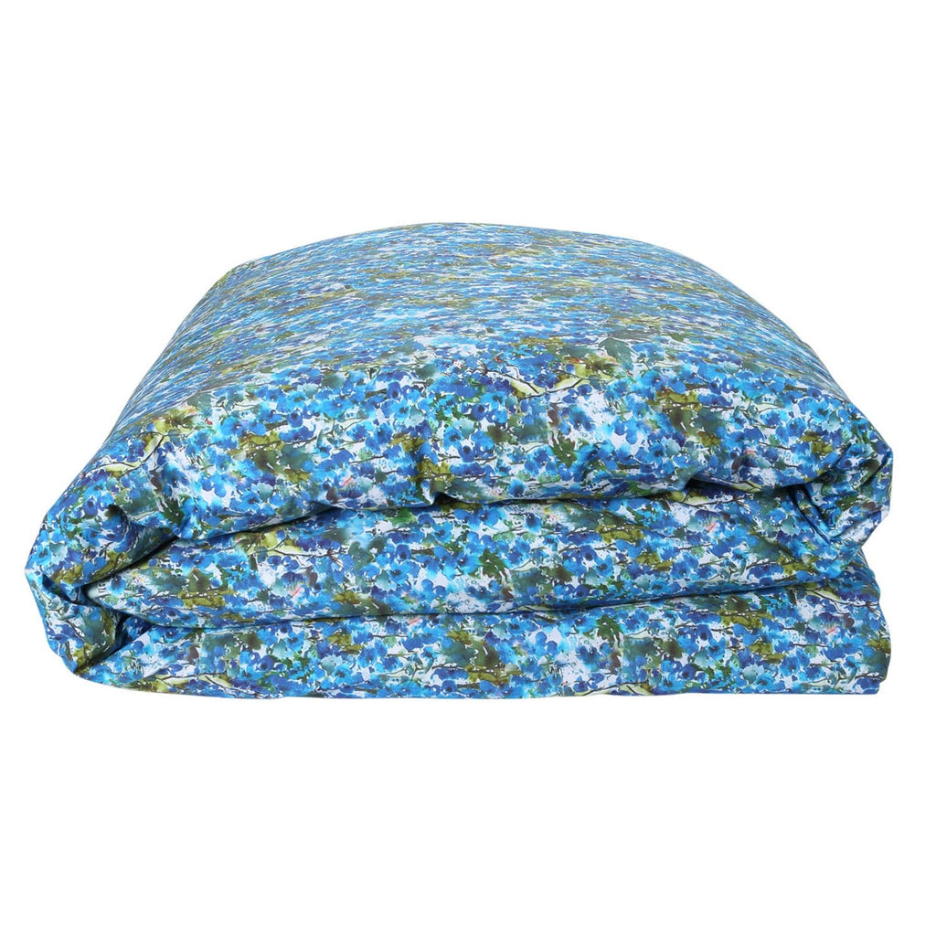 Bunch of Blue Cotton Quilt Cover