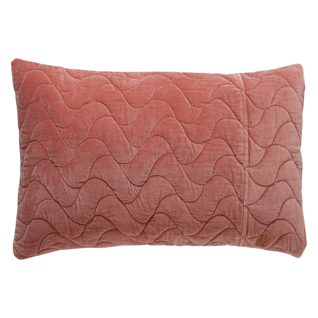 Clay Quilted Velvet Pillowcase Set