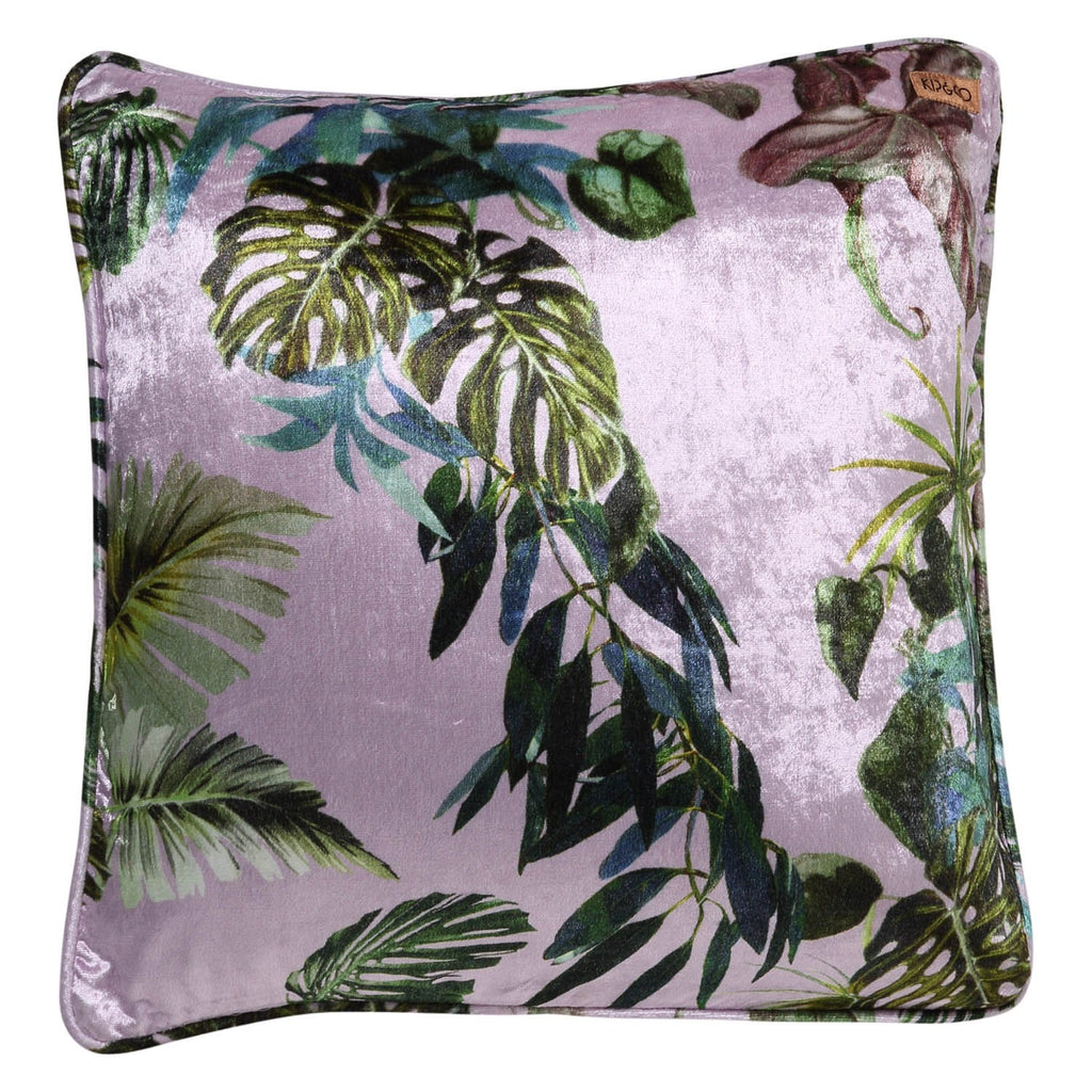 Foliage Lilac Velvet Cushion Cover