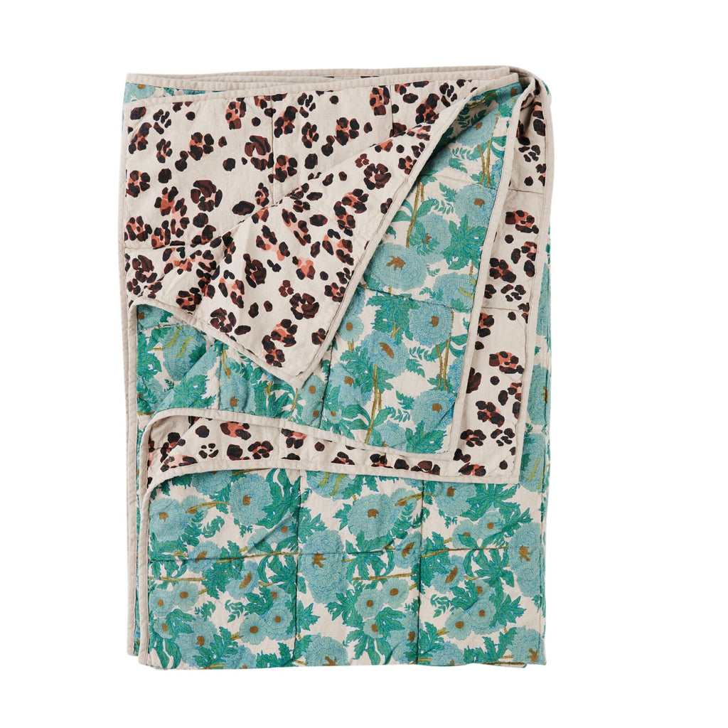 Leopard/Joan Double Sided Quilt