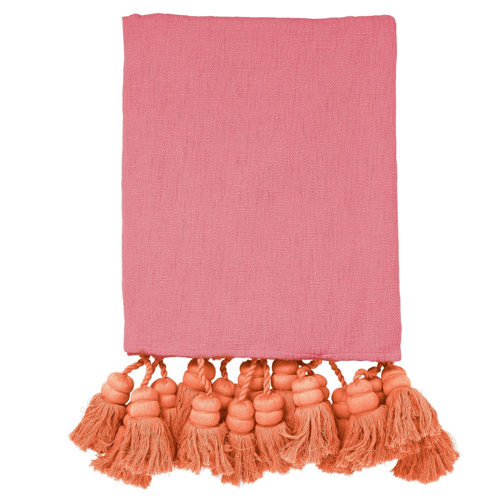 Blush Tassel Throw