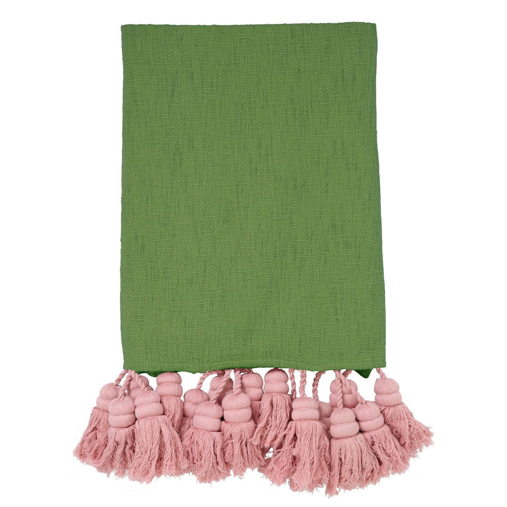 Grass Hoper Tassel Throw