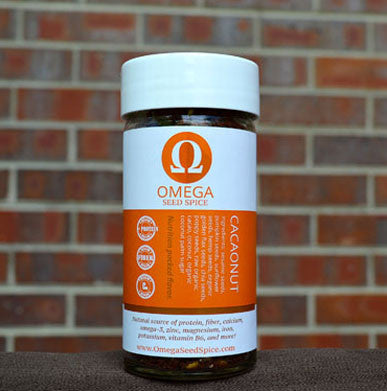 Seed-based Sweet Cacao Nut Seasoning. Superfood Spice, Protein, Fiber, Vitamins & Omegas - Omega Seed Spice