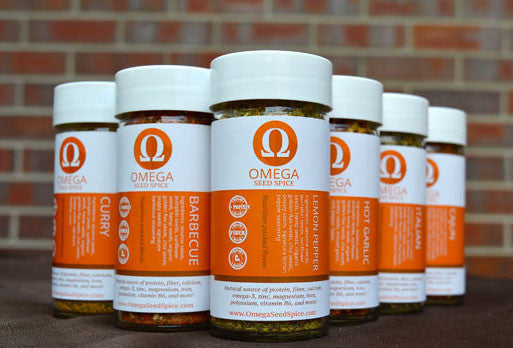 Omega Seed Spice Seasonings (6.6 Grams  Savory Collection) with Protein & Fiber, Vitamins and Omegas - Omega Seed Spice