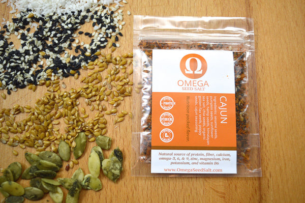 Seed-based Cajun Seasoning. Superfood Spice, High in Protein, Fiber, Vitamins & Omegas - Omega Seed Spice