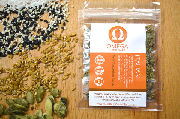 Seed-based Italian Seasoning. Superfood Spice, Naturally High in Protein, Fiber, Vitamins & Omegas. All Natural, Healthy & Delicious. - Omega Seed Spice