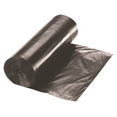 REN66024-CA Renown 60 Gal. 2 mil 38 in. x 58 in. Black Can Liner (10 per Roll, 10-Roll per Case)