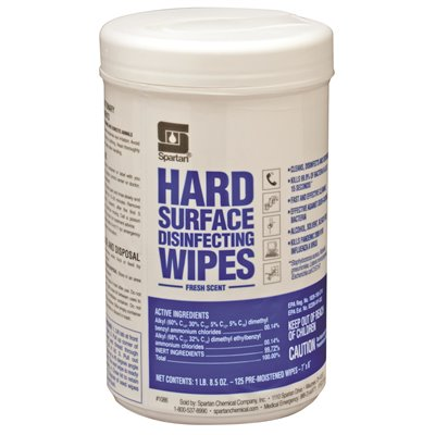 SOD SPA1086-06 SPARTAN CHEMICAL COMPANY 125 Count Fresh Scent Hard Surface Disinfecting Wipes