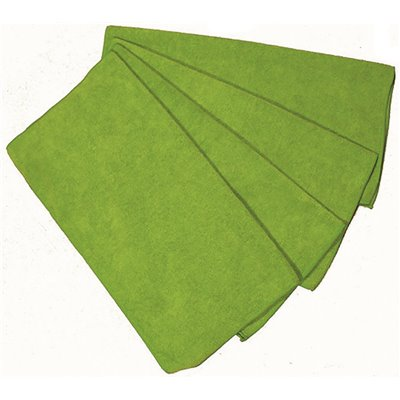309255860 Adamax Zwype 16 in. x 16 in. General Purpose Microfiber Cloth in Green (12-Pack)