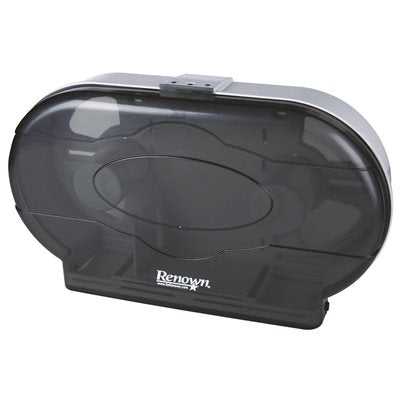 REN05150-IB Renown Jr Jumbo Black Twin Toilet Paper Dispenser