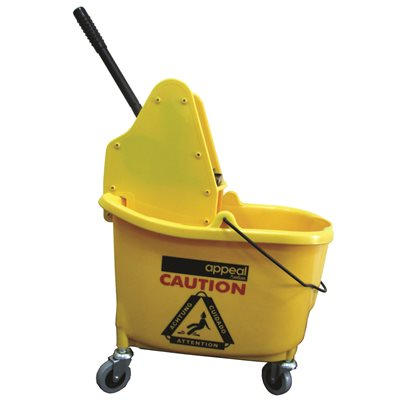 APP15501 Appeal 35 Qt. Capacity Down-Press Mop Bucket Combo Yellow