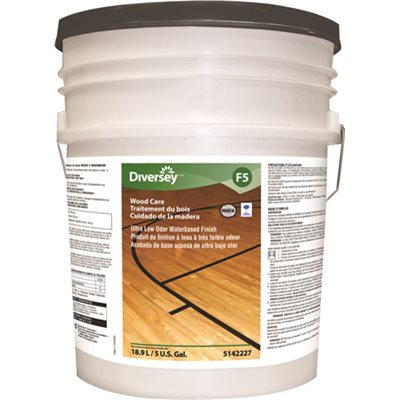 JWP5142227 Bona 5 Gal. Ultra Low Odor Water-Based Hardwood Recoat Floor Finish, White, Mild Scent