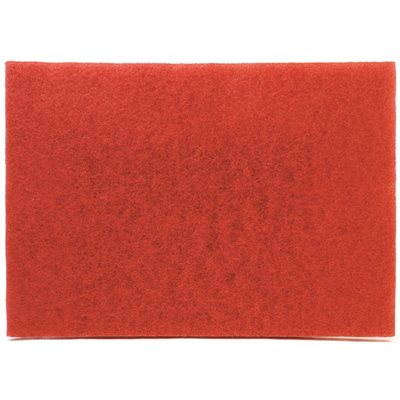 "MMM59258 20"" X 14"" RED BUFFER FLOOR PAD 10/CS"