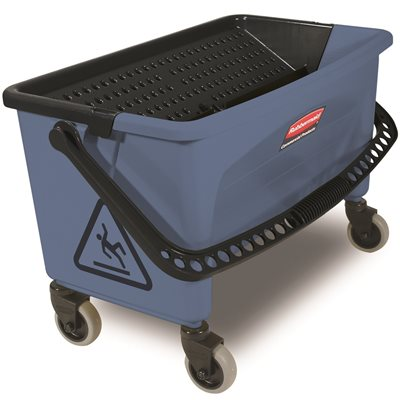 SOD RCPQ93000BL Rubbermaid Commercial Products 28 Qt. Blue Microfiber Flat Mop Finishing Bucket