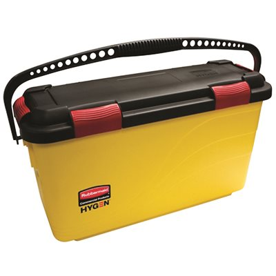 SOD RCPQ95088YL Rubbermaid Commercial Products HYGEN 7 Gal. Yellow Charging Plastic Bucket with Lid