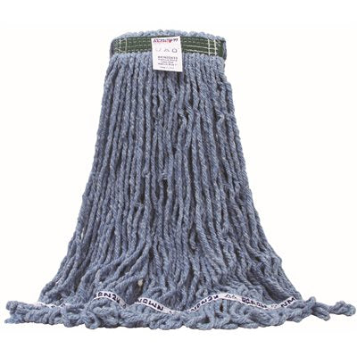 REN02433 Renown Premium Blue Blend Loop-End Shrinkless Wet Mop Head with 1 in. Head /CSBand