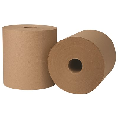 REN06004-WB RENOWN NATURAL HARDWOUND PAPER TOWEL 800 ft. Per Roll, 6-Rolls per Case