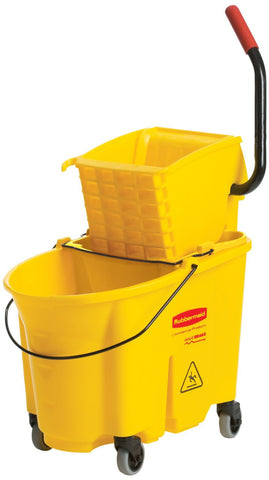 RUB7580-88YEL Rubbermaid WaveBreak Side Press Bucket Wringer FG758088YEL