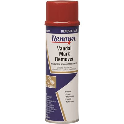 REN05081-AM Renown GRAFFITI AND VANDAL MARK REMOVER 16 OZ AEROSOL CAN 12/CASE