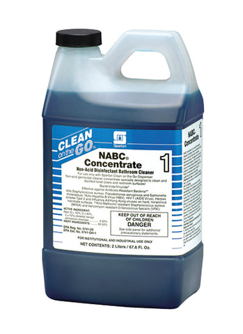 SOD SPA4716 SPARTAN COG NABC CLEANER DISINFECTANT FOUR 2L CARTRIDGES - CASE