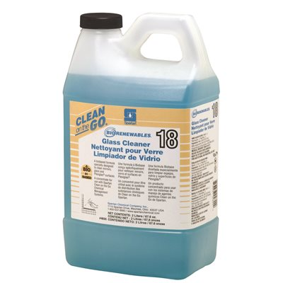 SOD SPA4835 SPARTAN BIO-RENEWABLE GLASS CLEANER 2L 4/cs