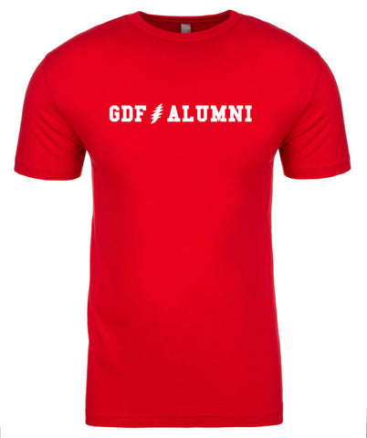 GDF Alumni Red mens Shirt with FREE SHIPPING
