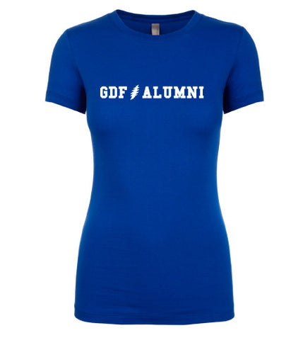 GDF Alumni blue womens Shirt with FREE SHIPPING