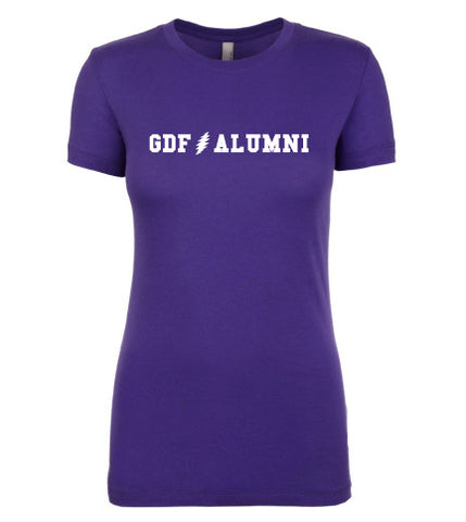 GDF Alumni purple womens Shirt with FREE SHIPPING