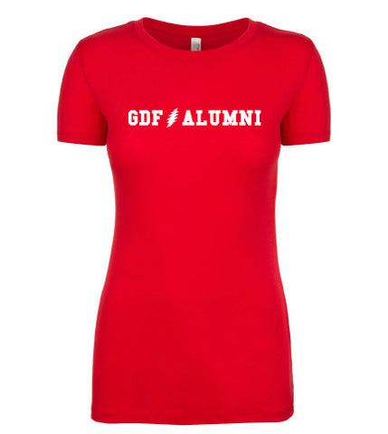 GDF Alumni red womens Shirt with FREE SHIPPING