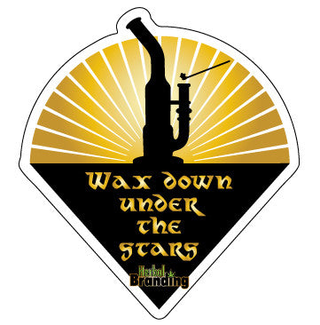 Wax down under the stars durable decal FREE SHIPPING