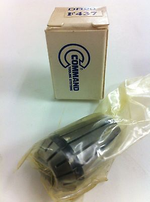 Command Tooling Systems ER20 DR20 F437 .437 inch / 11.1 mm Collet for Mill New