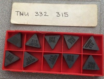 SANDVIK Coromant TNU 332 315 Lathe Carbide Inserts 10 Pcs New Tools