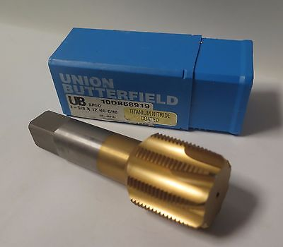 Union Butterfield UB Tap 1-5/8 x 12 NS GH8 10DB68919 Titanium Nitride Coated