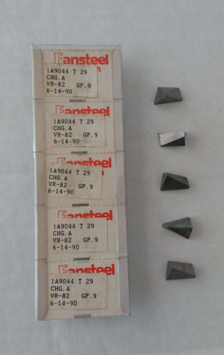 Fansteel VR/Wesson 1A9044 5pcs GP.9 T29 Carbide Inserts CHG.A VR-82 Grooving New