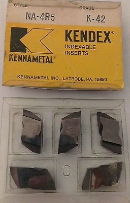 KENNAMETAL KENDEX NA-4R5 K-42 Lathe Carbide Indexable Inserts 5 Pcs Grooving New