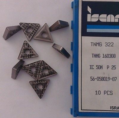 ISCAR TNMG 322 160308 IC 50M P25 Carbide Inserts 10 Pcs Lathe Turning Mill Tools