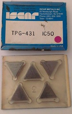 ISCAR TPG 431 IC 50 Carbide Inserts 5 Pcs Lathe Turning New Mill Tools