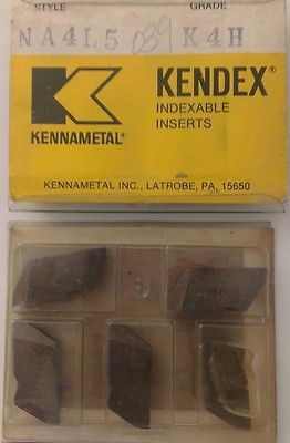 KENNAMETAL KENDEX NA4L5 K4H Lathe Carbide Indexable Inserts 5 Pcs Grooving New