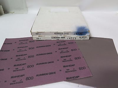 "Sancap Aluminum Oxide Cloth 9"" x 11"" 10346 Grit 500 J Qty 100 Brand New"