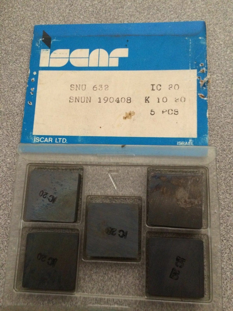 ISCAR SNU 632 IC 20 SNUN K10 20 Carbide Inserts 5 Pcs New Lathe Mill