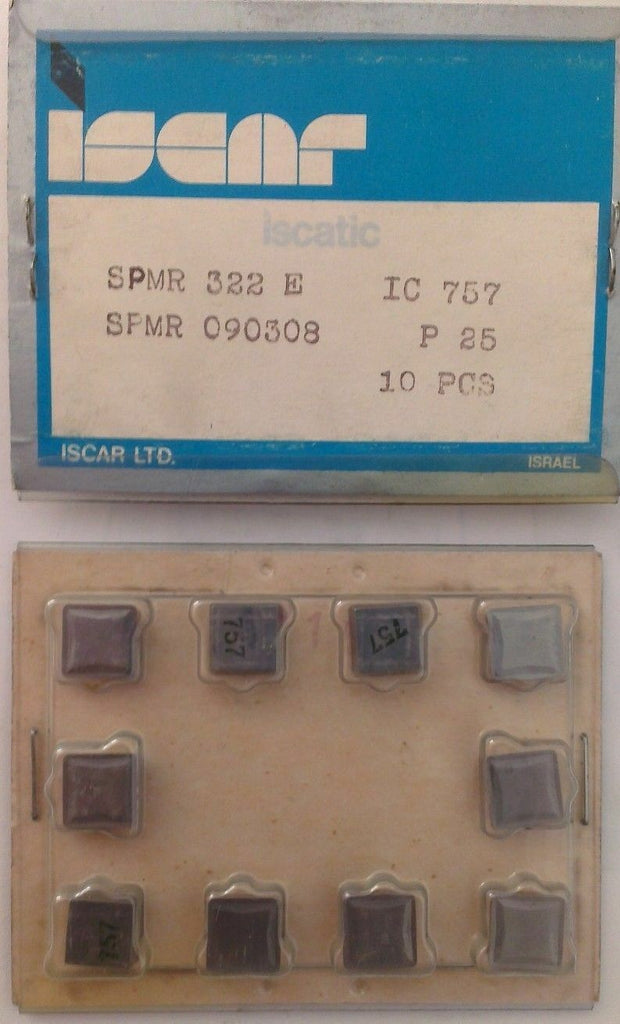 ISCAR SPMR 322 E IC 757 Carbide Inserts 10 Pcs Lathe Mill Tools