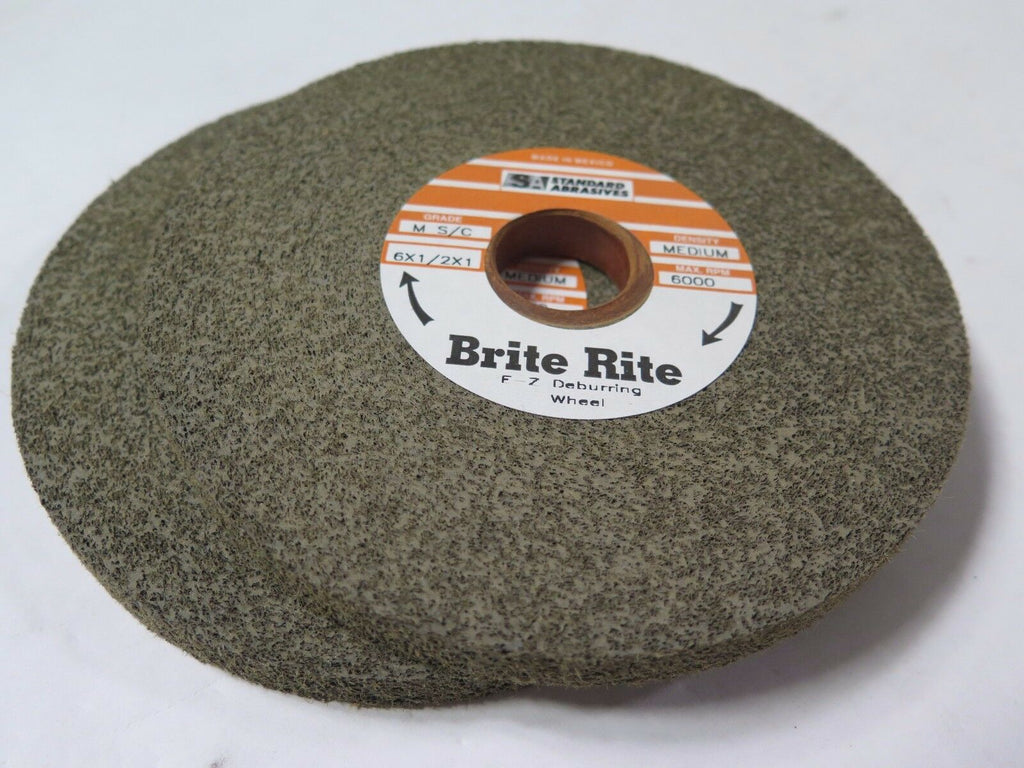 "Standard Abrasives  6 x 1/2 x 1"" 853022 E-Z Deburring Wheels M S/C MED Qty 2 New"