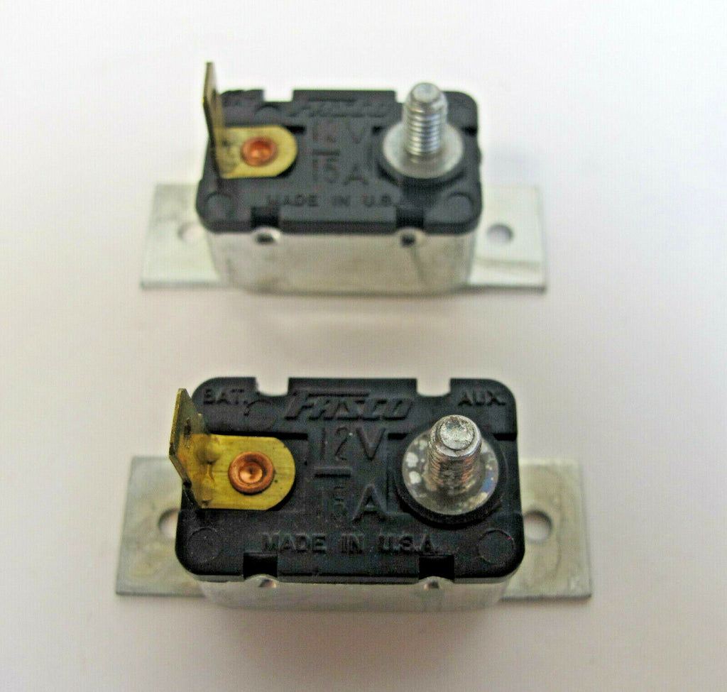 Lot 2 Brand New Fasco Circuit Breaker Auto Truck Fuse 12V 15A With Bracket USA