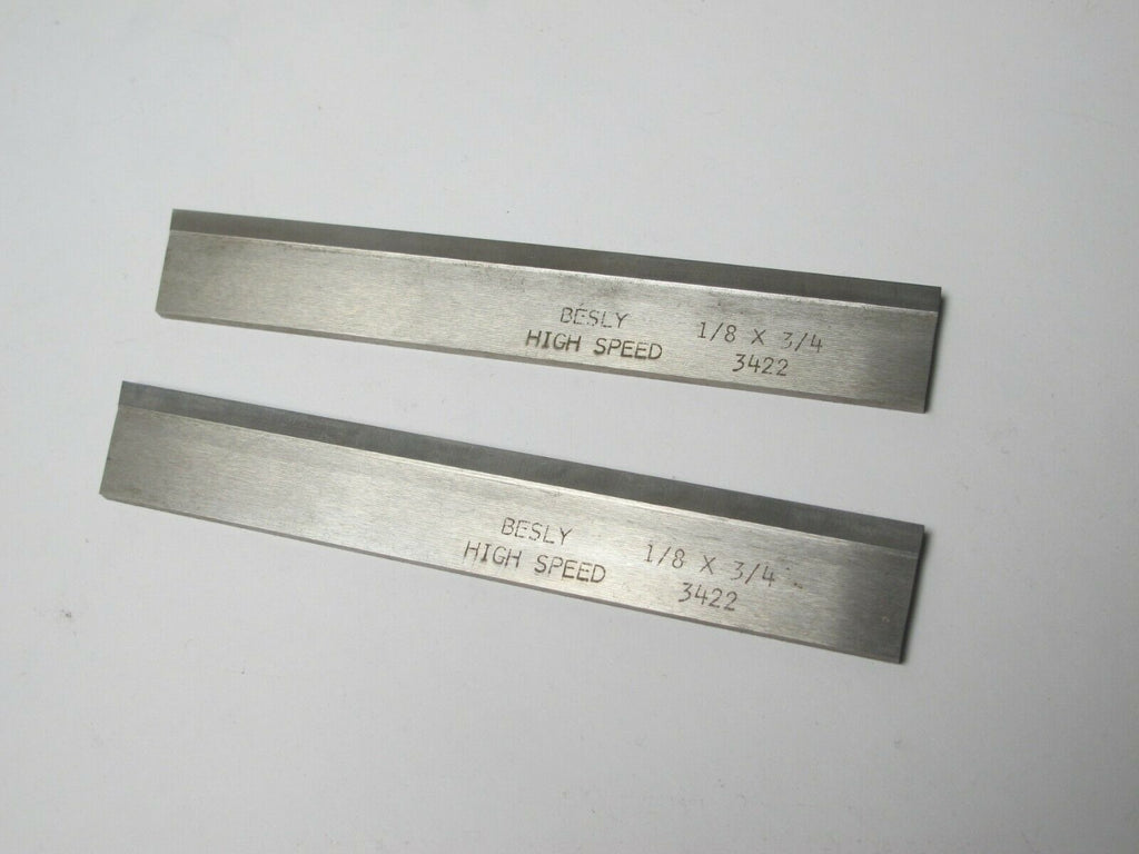 "Lot of 2 New 1/8 x 3/4 x 5"" Rectangle Lathe Tool Cutting HSS Blank Bit BESLY USA"