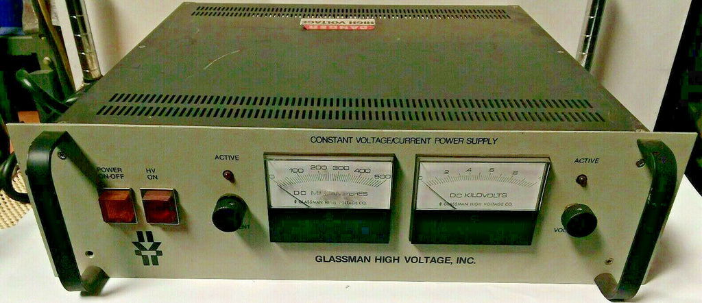 GLASSMAN PG-001N-500 Constant  High Voltage Current Power Supply  PG-001N-500