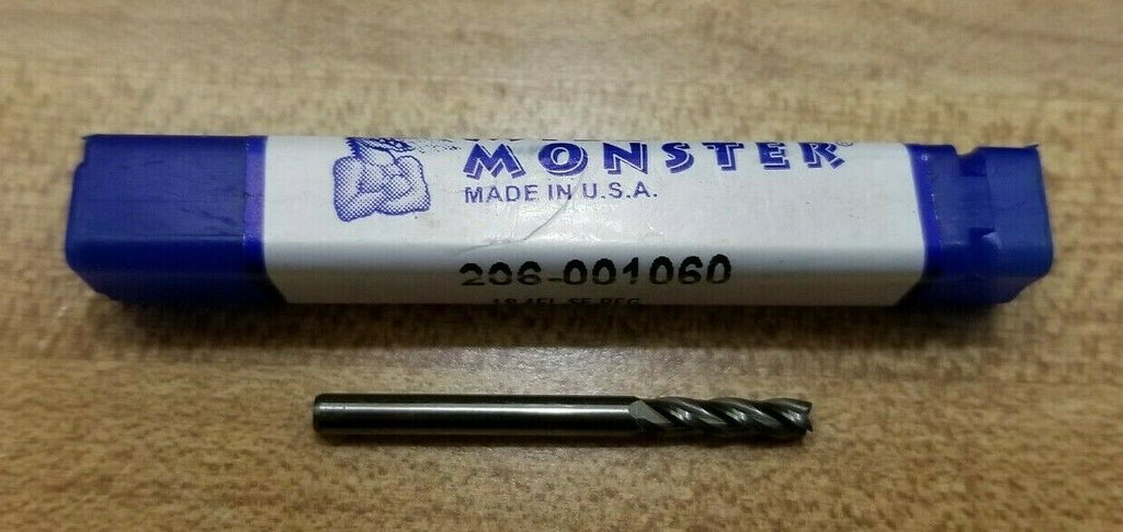 Mill Monster 206-001060 1/8 4 FL Square End Mill Carbide Made in USA