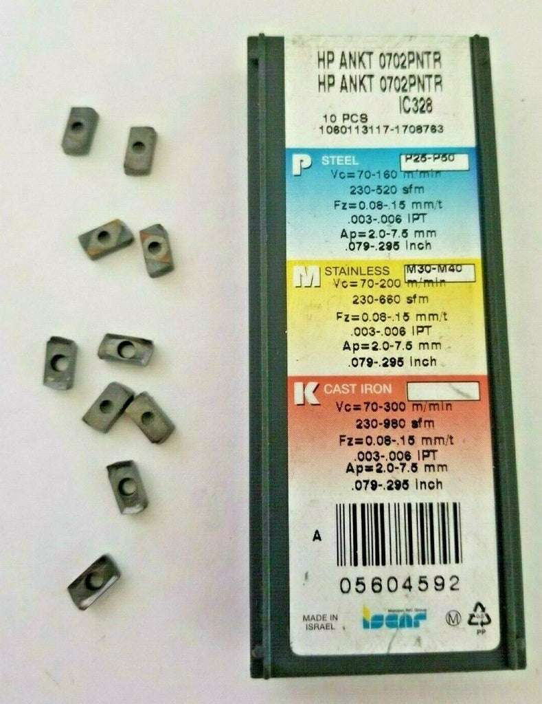 ISCAR ANKT 0702PNTR IC 328 Carbide Inserts Lathe Mill Tool Holders 10 Pcs New