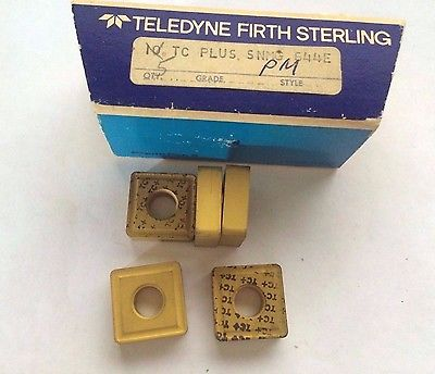 5 Pcs Teledyne Firth Sterling SNMG 544E TC PLUS PM Lathe Carbide Inserts Gold