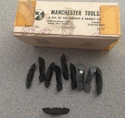 MANCHESTER 508-127 C-2 Grooving Lathe Carbide Inserts 10 Pcs New Tools