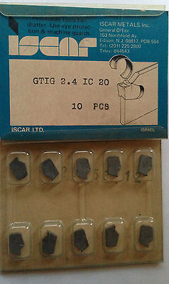 ISCAR GTIG 2.4 IC 20 Carbide Inserts Grooving 10 Pcs Lathe Self Grip Cut-Off New